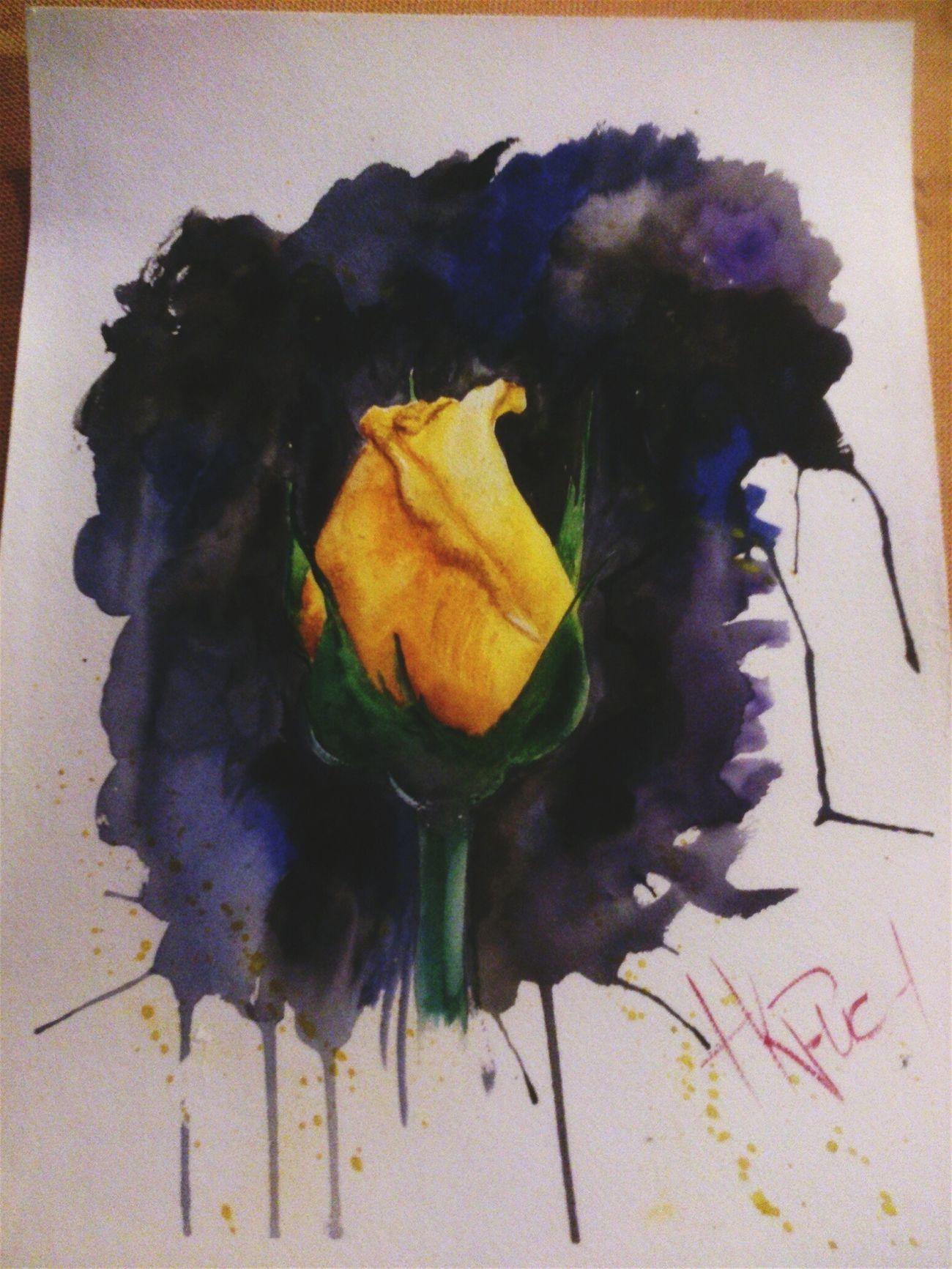 Akvarell Flowers Paint