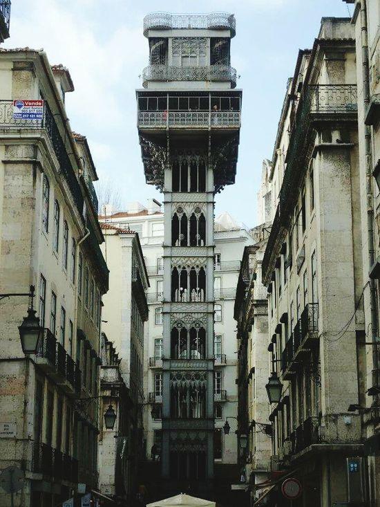 Architecture Building Exterior Elevador De Santa Justa
