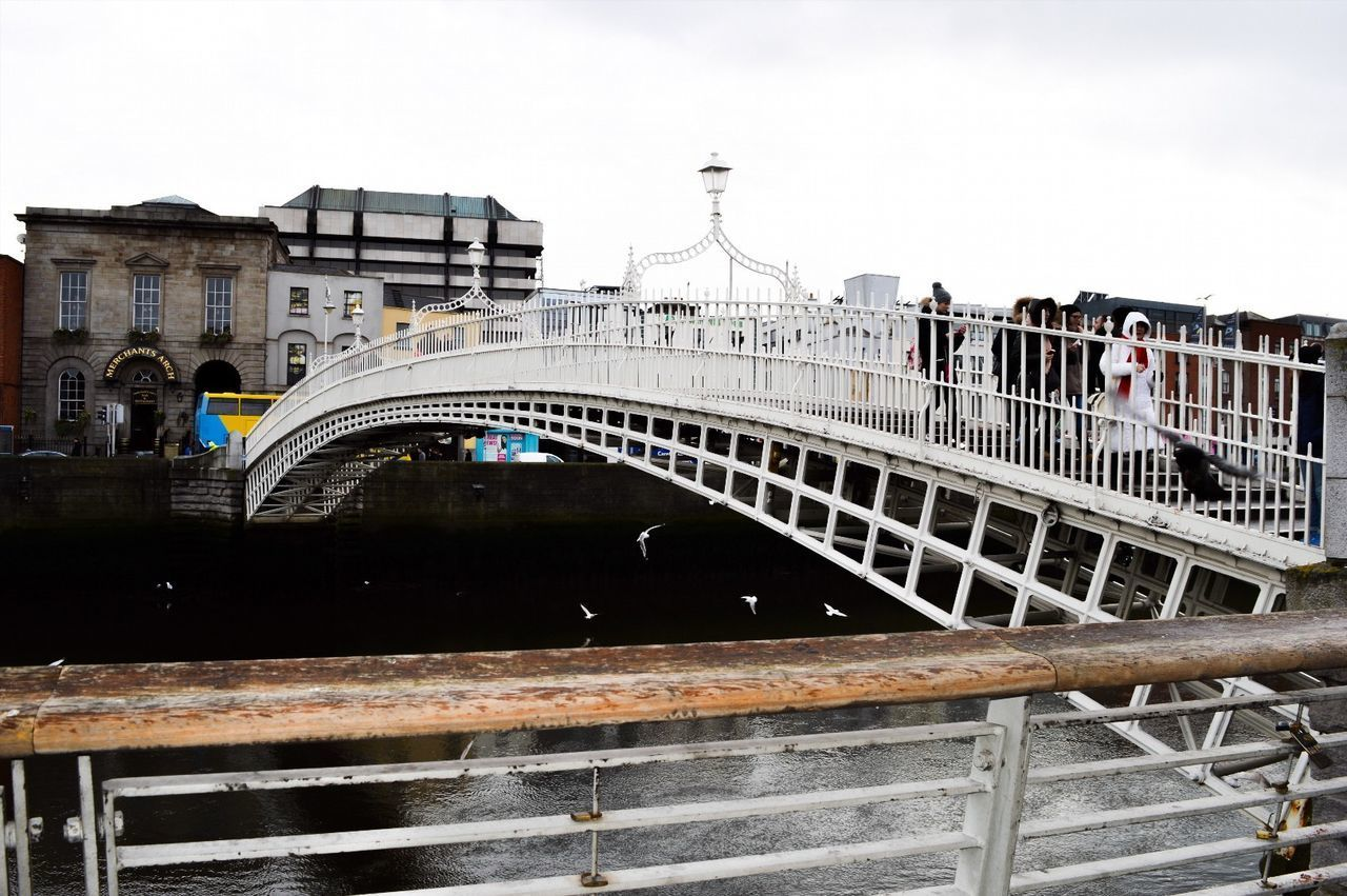 Bridge - Man Made Structure City Architecture Railing Outdoors Travel Destinations Tourism Water River Cityscape Day Sky No People Modeling Photography Photoshoot Shooting First Eyeem Photo Nature Close-up Front View Blackandwhite Blackandwhitephotography Beautiful Nature Dublin Ireland