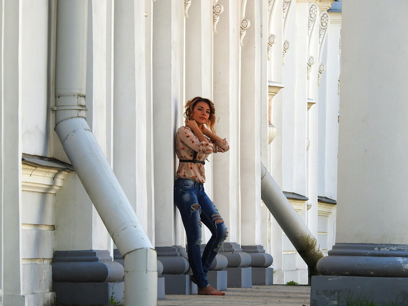 Photosession No Shoes Sankt-Petersburg Elagin Island Russia Girl Park Spy Zoom Girl Power