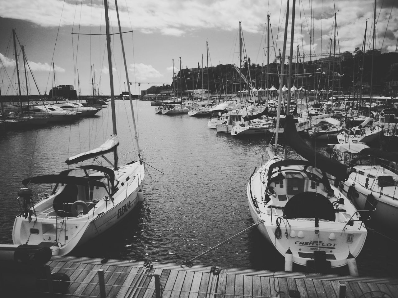 Madeira Docks Yatch Blackandwhite Waterscape Sea Funchal Relaxing Sony Photography