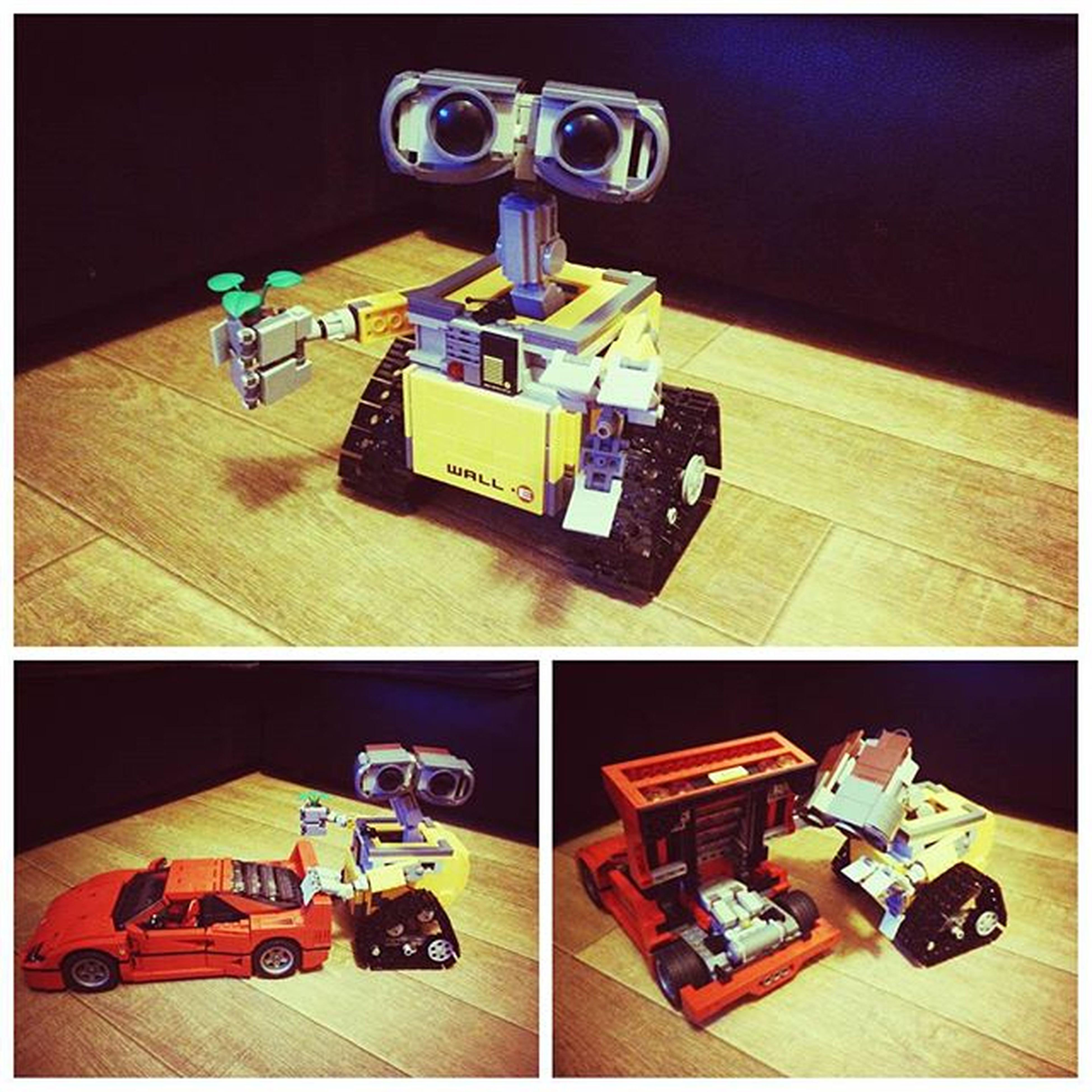 Lego Wall-E and the F40 😀 Legostagram LEGO Ferrarif40 Legowalle Gladihavekids Legoferrari WallE