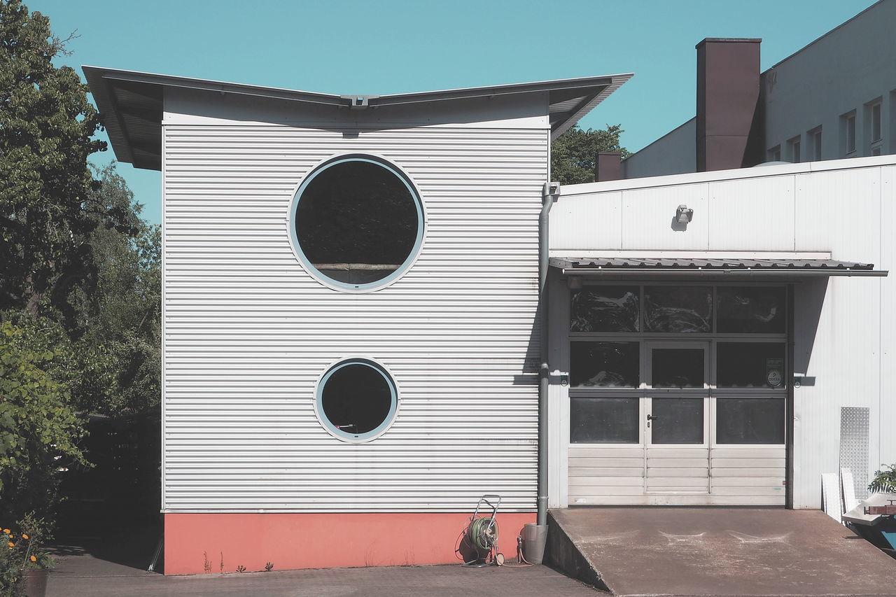 Architecture Building Exterior Built Structure Façade Garage Modern Architecture Utilitarian Windows