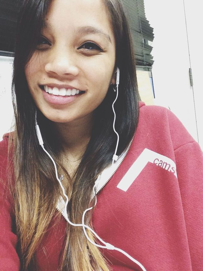 Hi! Wearing my high school class' jacket. Shoutout to babe for giving me his :D This Is Me Hello Selfie Study Break!