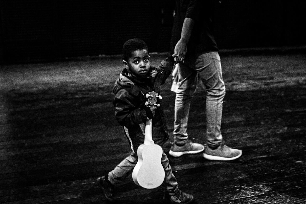 RePicture Growth Street Streetphotography Streetphoto_bw Kid Guitar Ukulele London Uk GBR Cmmaung Cmmaung.me