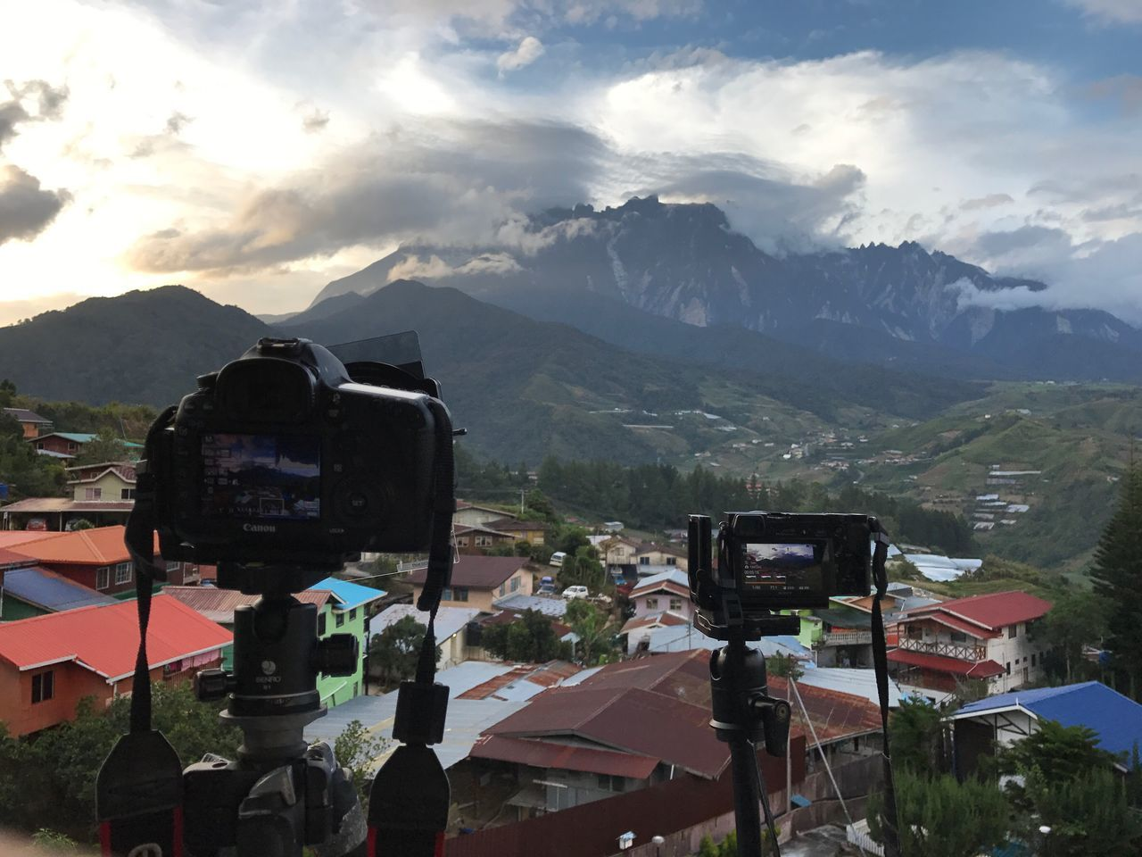 Capturing the sunset moment with the highest of South East Asia mount - Kinabalu Mount in the background Mountain Sky Mountain Range Nature Outdoors Day No People Beauty In Nature Landscape Sunset Kinabalu Mount Canon Photography Sony A6000 Sony Timelapse
