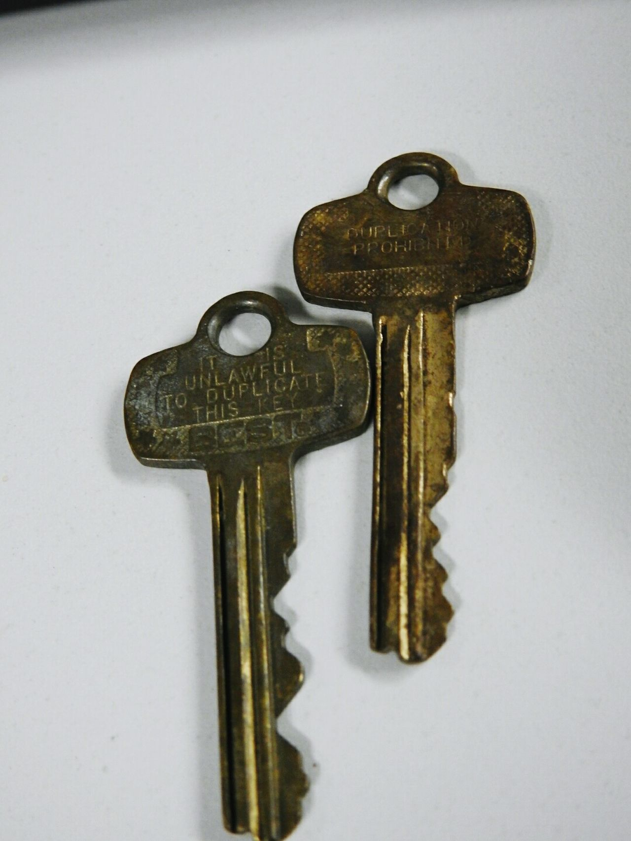 Old keys. Safety Security Metal Lock Close-up Old-fashioned Focus On Foreground White Background Protection Keys Old Keys Old Keys! Keys Photography Key Old Two Lock And Key  Still Life Still Life Photography Locksmith