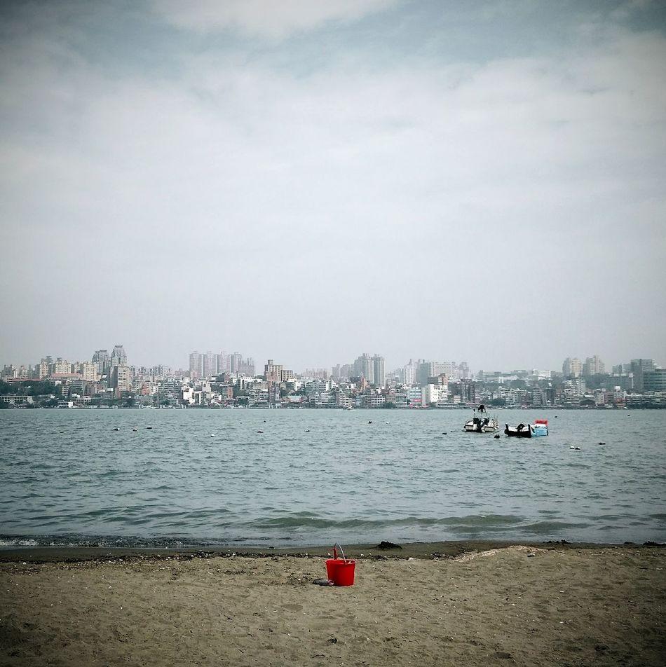 八里左岸。 Sea Water Sky No People Outdoors Nature Day Nautical Vessel Beach Cloud - Sky Sailboat Tamsui River