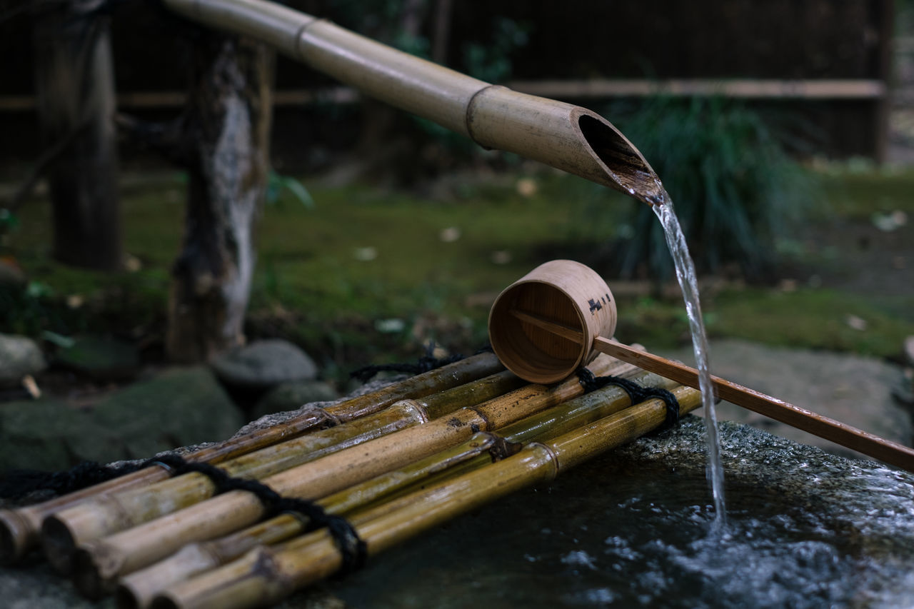 Bamboo - Material Close-up Cultures Day Drinking Fountain Fountain Motion No People Outdoors Religion Shrine Spirituality Tokyo Tokyo National Museum Tokyo Street Photography Tokyo,Japan Water Wood - Material