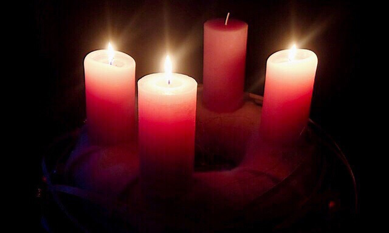 candle, flame, burning, heat - temperature, glowing, dark, illuminated, spirituality, indoors, no people, close-up, red, representing