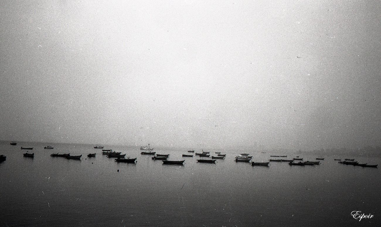 Sea View Boat Nature B&WPhoto Minolta Tc-1 Yantai China Beauty