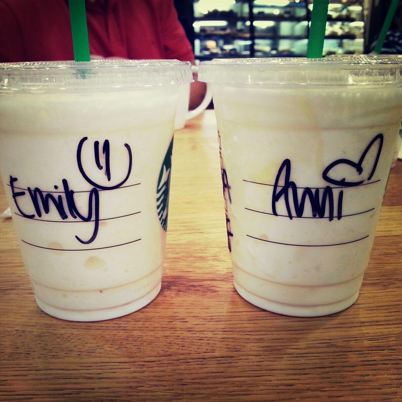 Starbucks <3 Best Friends.? No.! Sisters <3 Frappucino