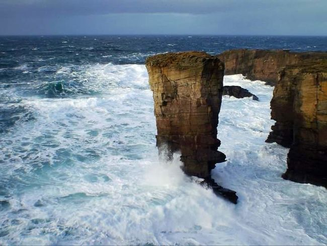 Atlantic Ocean Atlantic Storm Yesnaby Sea Stack Yesnaby Stack Orkneyislands Orkney Orkneyisles Scotland Water Lifeasiseeit Johnnelson The KIOMI Collection Yesnaby Castle Wave Blue Wave Landscape Wildlife & Nature Enjoying Life