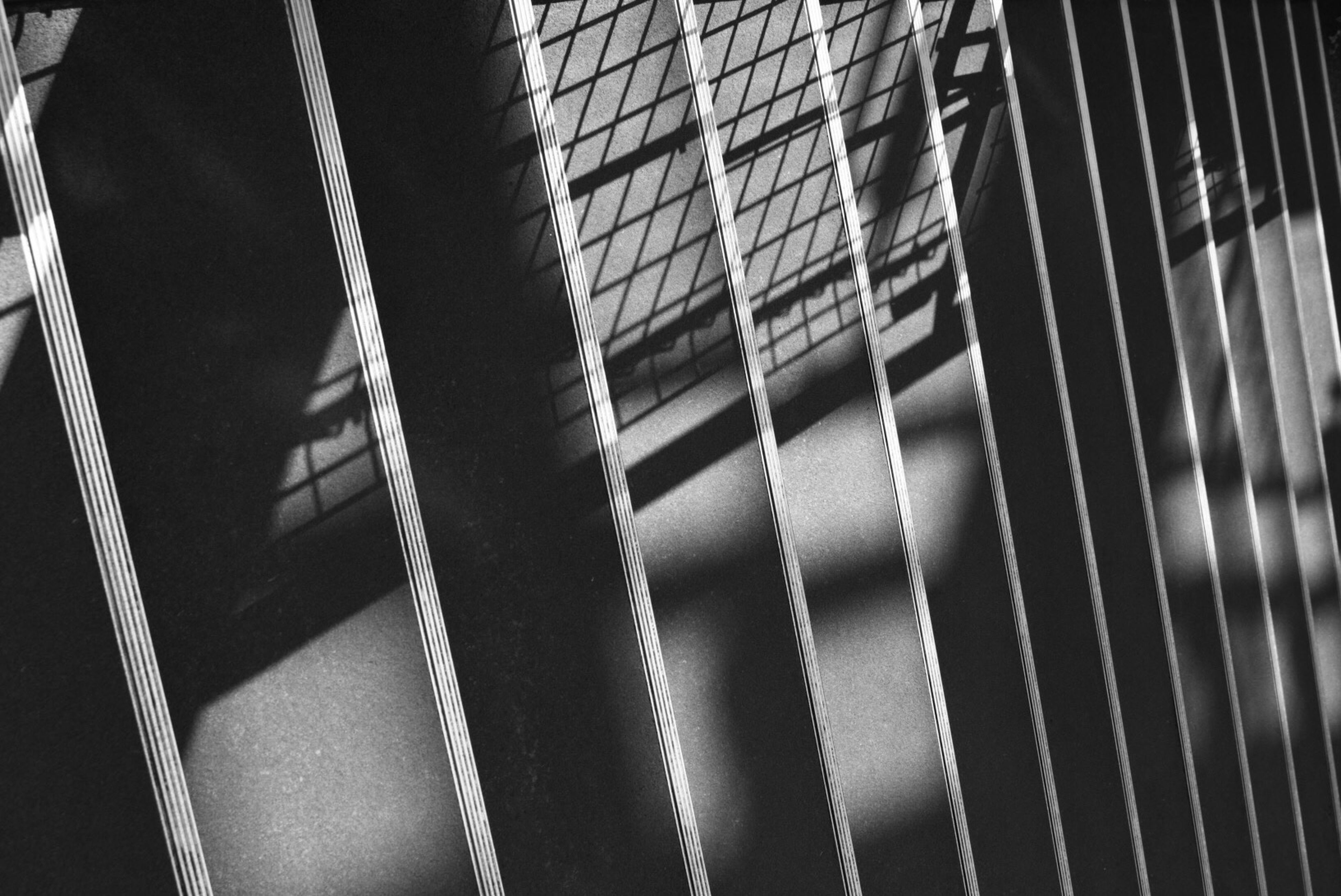 pattern, full frame, backgrounds, close-up, indoors, repetition, design, textured, built structure, abstract, architecture, metal, no people, striped, window, shadow, detail, day, in a row, shape