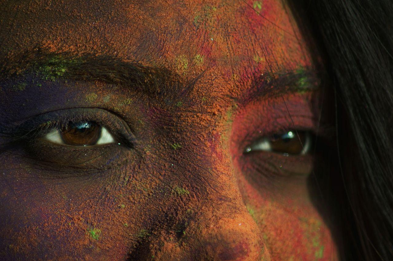 Holi Festival Fever Festival Only Women Eyes EyeEmbestshots EymEmNewHere Eyemmarket Outdoors Woman Around The World