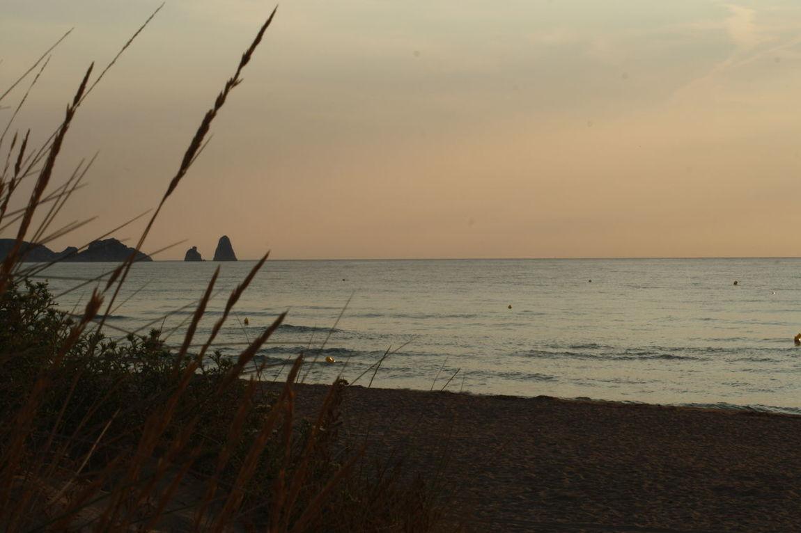 July 2015 SPAIN Costa Brava Sunrise Playa Brava Estartit L'estartit
