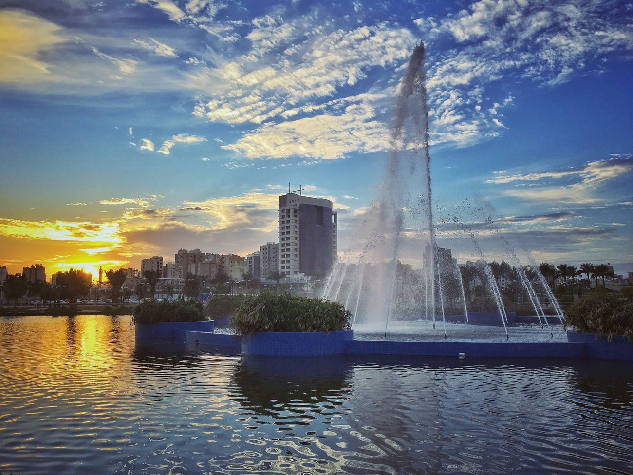 Boulevard Park. Kuwait City Photography Blue Sky Landscape Waterfront