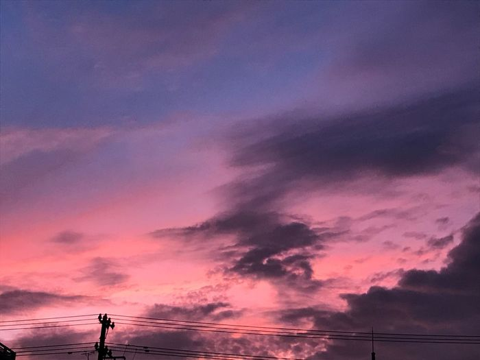 Sunset Sky Cloud - Sky Dramatic Sky Pink Color Beauty In Nature