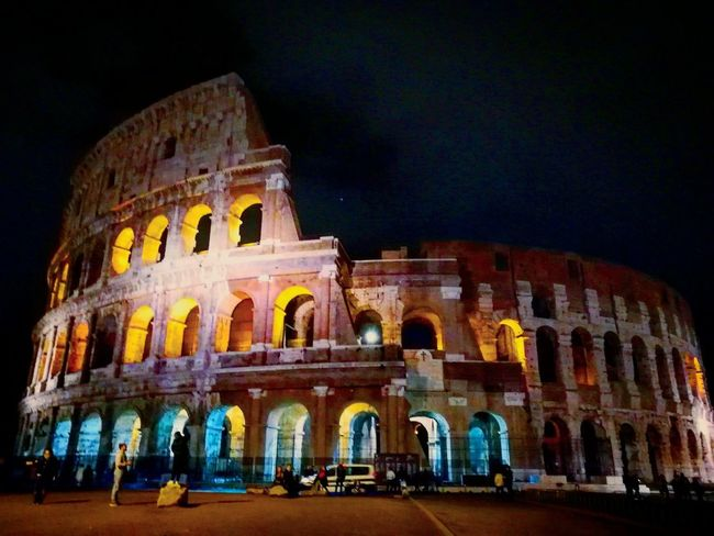 Night Arch Arts Culture And Entertainment History Old Ruin Architecture Travel Destinations Ancient Civilization Ancient Tourism Illuminated Vacations Outdoors Rome Travel Italy 🇮🇹