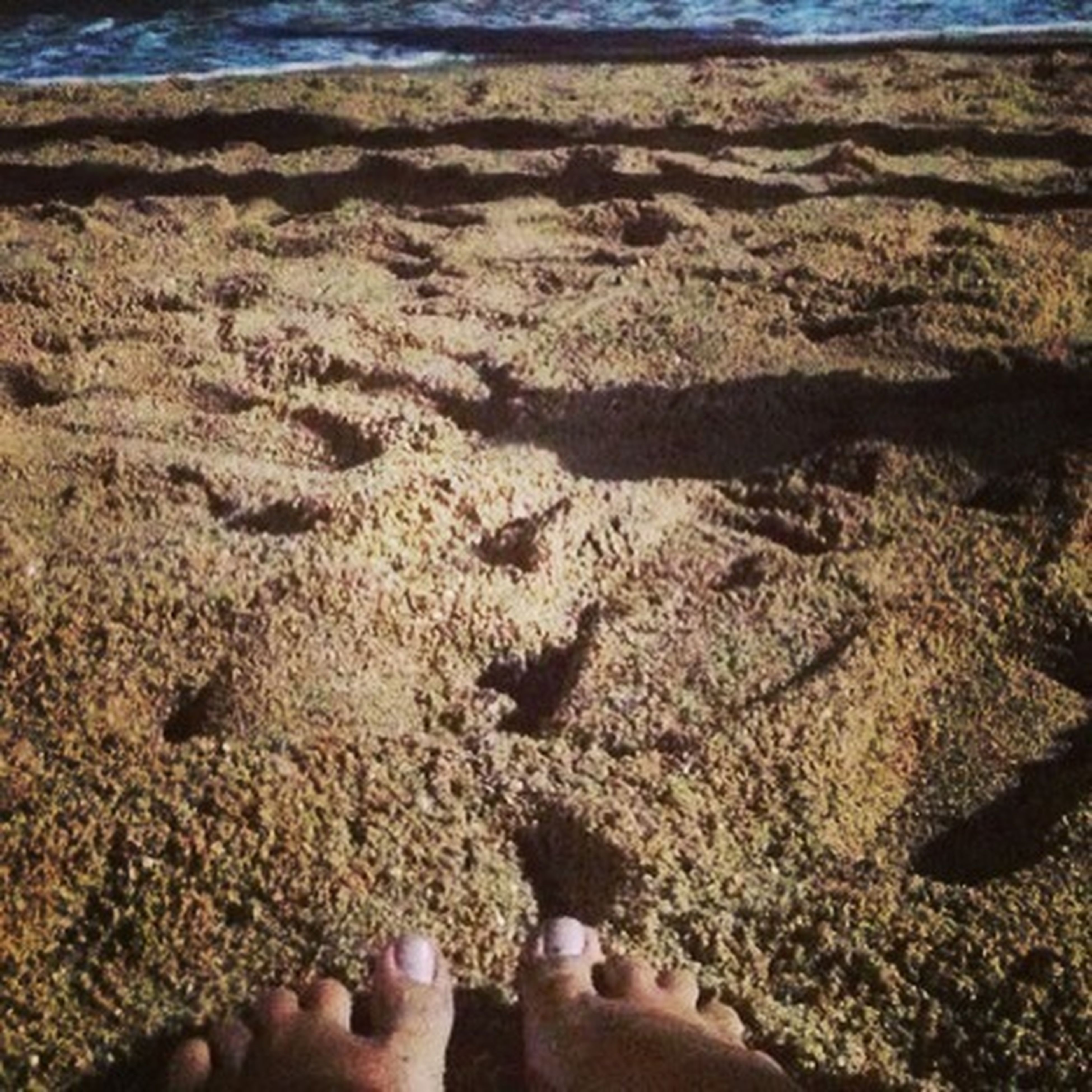 personal perspective, person, beach, low section, sand, human foot, unrecognizable person, barefoot, part of, lifestyles, leisure activity, high angle view, day, shore, nature