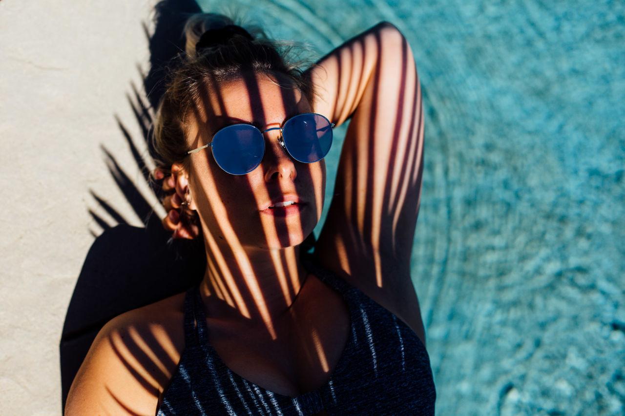 Babe Beach Blue California Chill Cool Enjoy Enjoying Life Enjoying The Sun Hipster Pool Refreshment Relax Shadows Summer Summer Views Summervibes Sun Sunbathing Sunny Tan USA Vacations Water Sommergefühle