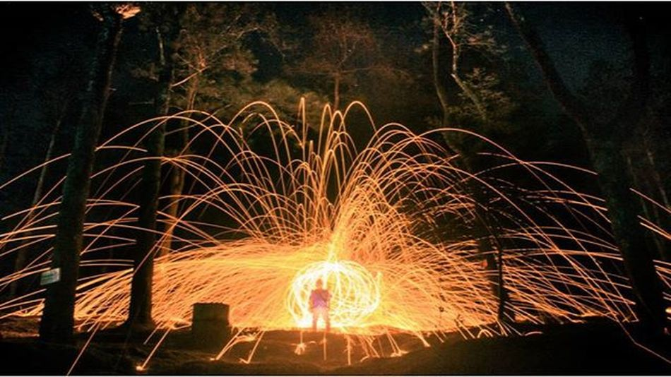 I fell into a burning ring of fire Loc. Mawar camp ground In frame: @tito_ku @ridwanan Steelwool Steelwool_photography Instagram Indonesia_photography Longexposure Fire Instanusantara Spinning Livefolkindonesia Mawarcamp Sidomukti Semarang Exploresemarang Kerengan CI_jateng