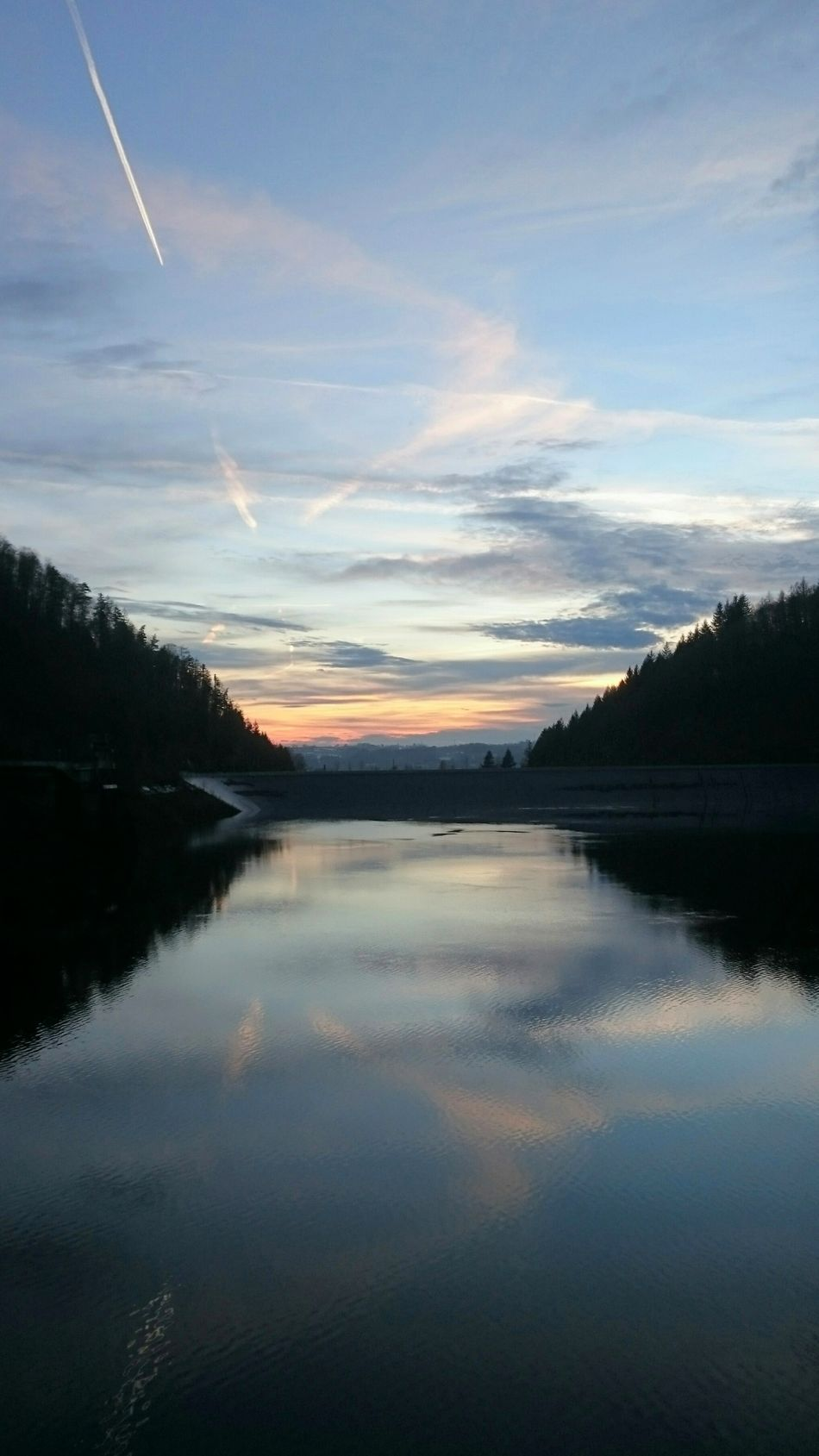 Stausee Wehr Black Forest Germany Schwarzwald Black Forest Sunset Sunlight Beauty In Nature Reflection Landscape Water Nature Outdoors Lake Scenics Sky No People Stausee
