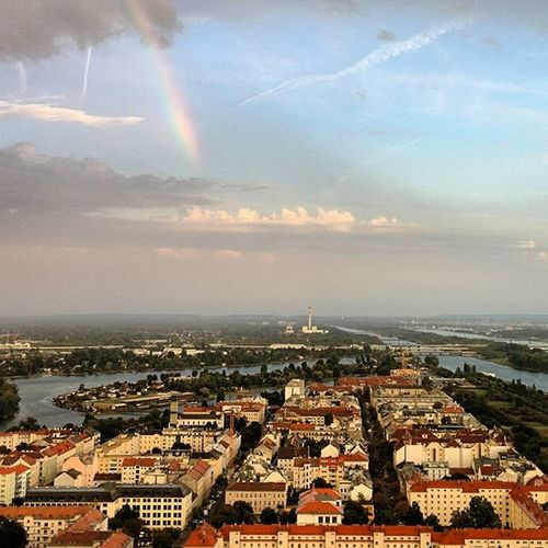 Rainbow over Vienna. . . Godisfaithful 31floorsup