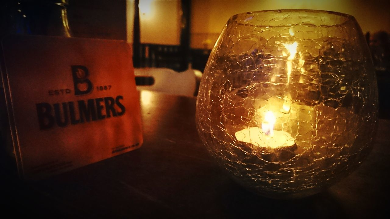 Illuminated Close-up Candle Light