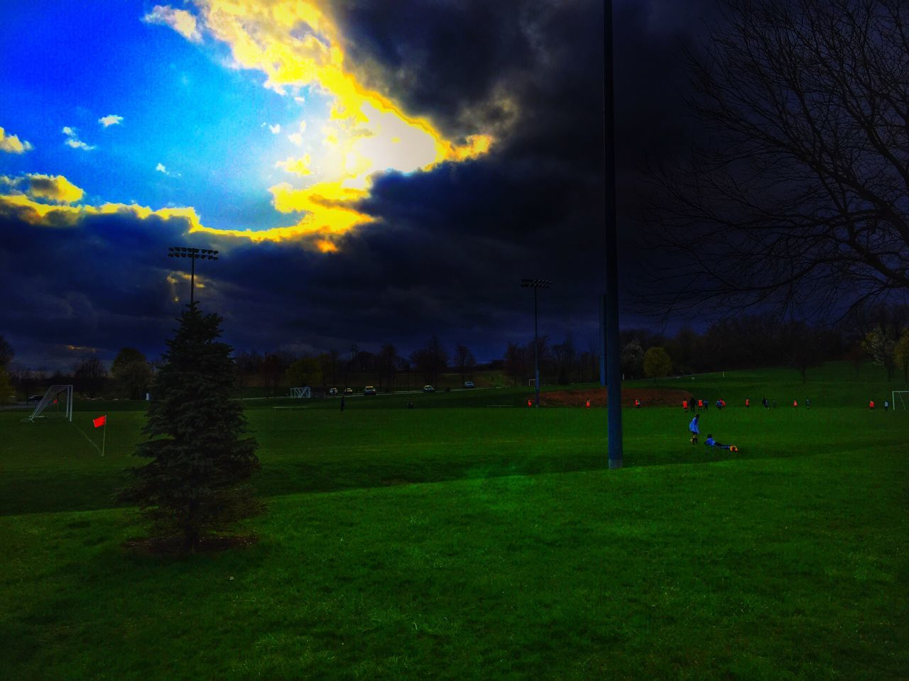 Storm Stormy Weather Spring Snow In Spring Landscape Soccer Field Soccer Landscape_Collection Eye4photography  EyeEm Nature Lover