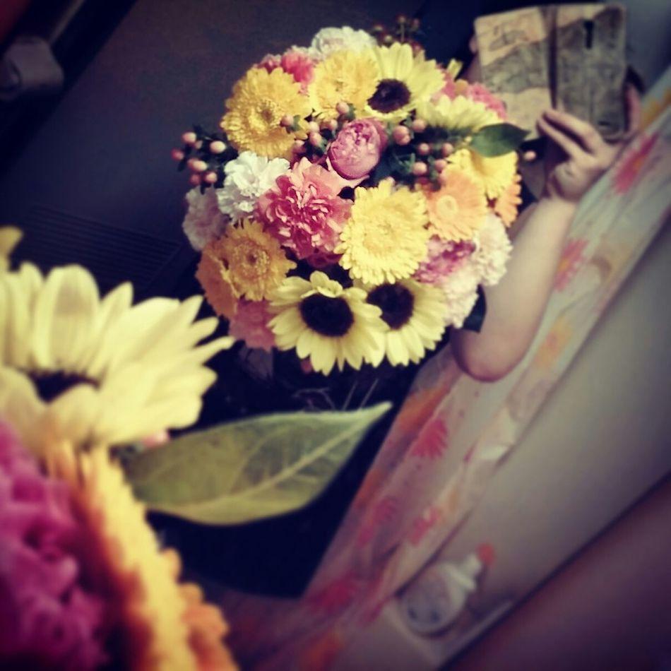 Flower ラウンドブーケ 花束 季節の花束 Sun Flower
