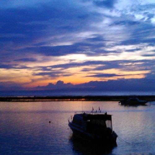 Easy morning Sanur Beach Sunrise Bali INDONESIA Nofilter