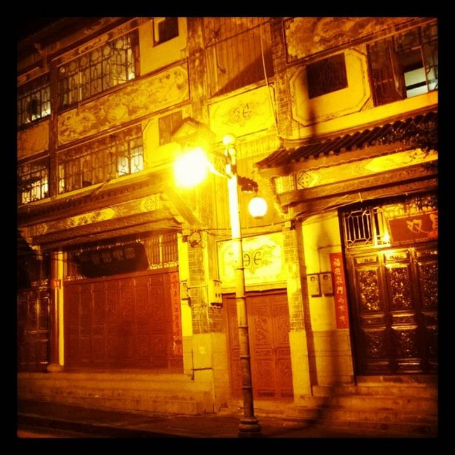One of the building in dali gu cheng Nokia  Lumia920 6tag Nightshoot 大理古城