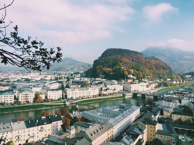 Salzburg Europe Travel Austria City City Break Sky Clouds Buildings Buildings & Sky Skyline Mountain