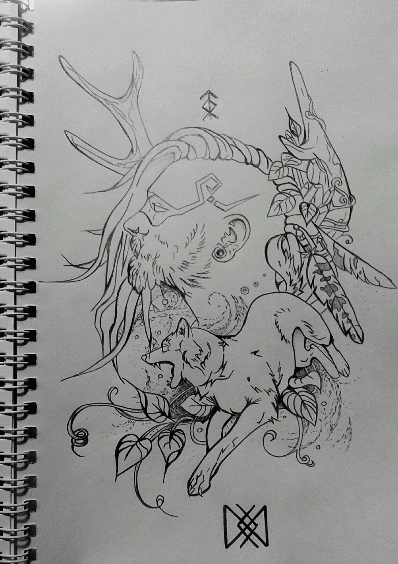 Казак характерник My Works My Draw ♥ Black & White