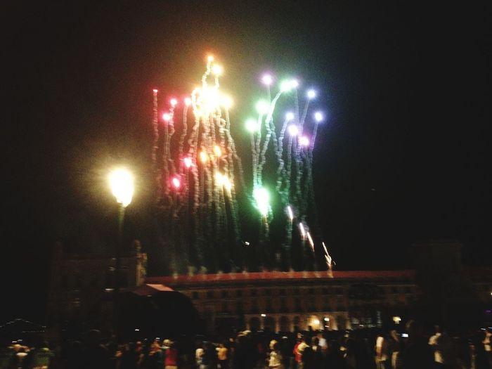 Fire In The Sky Firework Display Fireworksphotography FogosDeArtificio Festejos Festas Populares Colored Fire Works