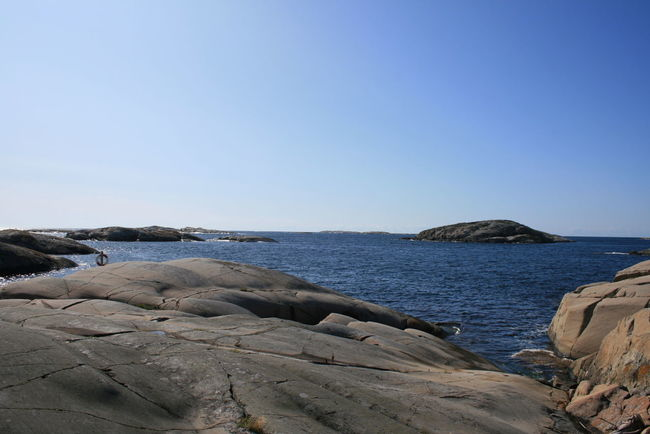 Valö Archipelago Beauty In Nature Blue Calm Clear Sky Coastline Day Fjällbacka SKÄRGÅRDEN Horizon Over Water Idyllic Nature No People Outdoors Remote Rock Rock - Object Rock Formation Scenics Schärengarten Sea Skärgård Tranquil Scene Tranquility Valö Island Water
