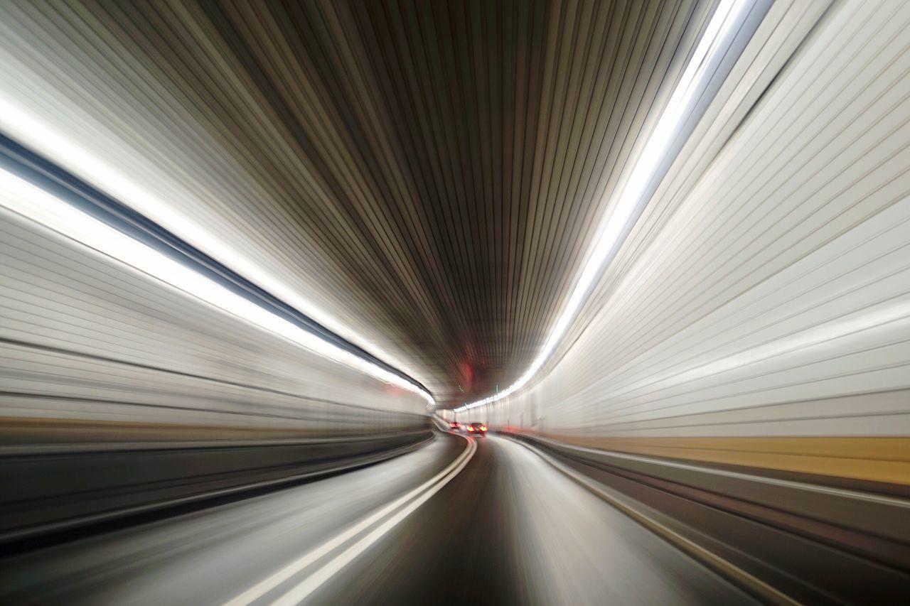 Tunnel NYC Zoom Drive Future Futuristic Warp Speed Speeding Technology Tech Internet Highway Supernormal Paranormal Road Driving Urban Brain Neurons