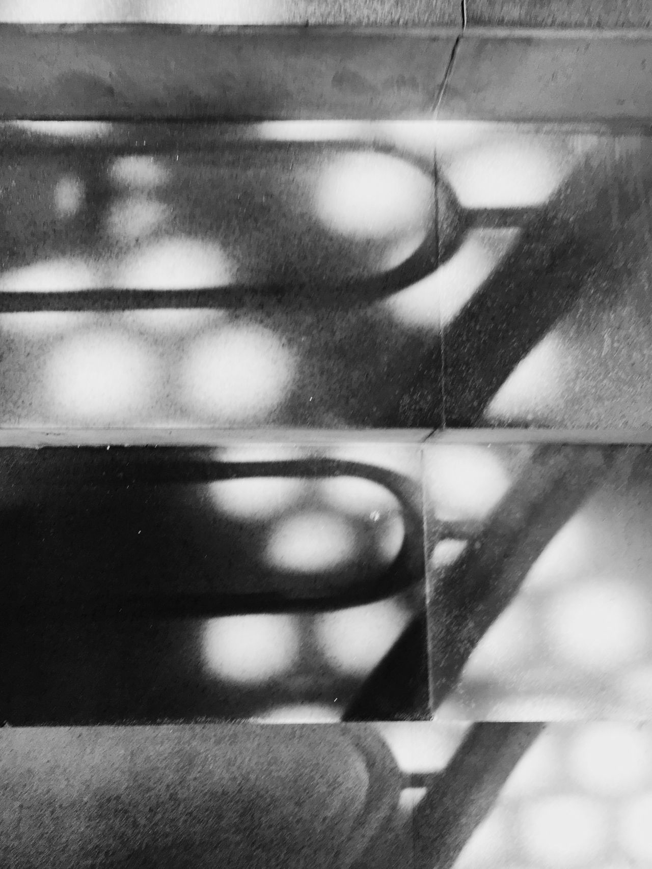 The City Light Reflection Indoors  Close-up Day Stairs Light And Shadow Black & White Abstract