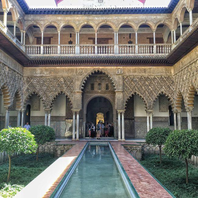 Alcazar Architecture Moorish Mudéjar Royal Palace Courtyard of the Maidens SPAIN