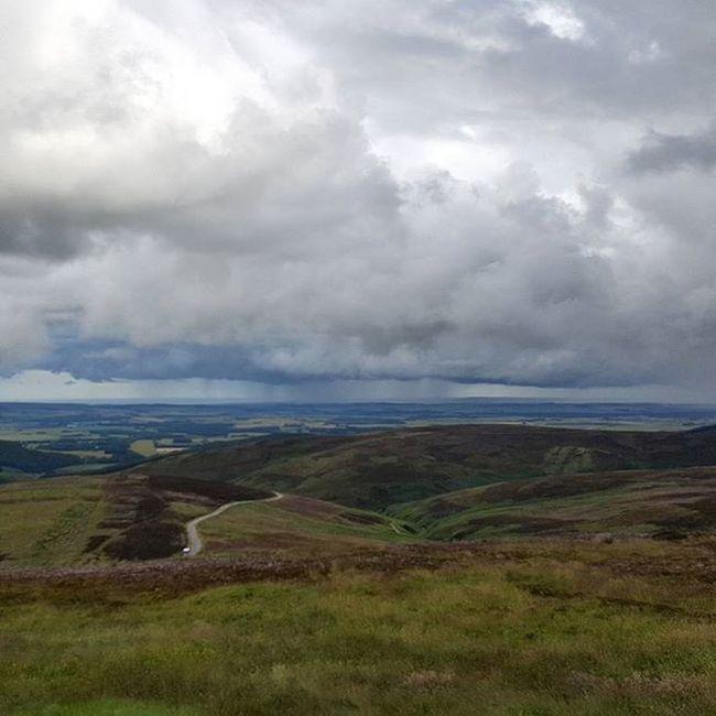 Distant Rain Wetsummer Cairnomount Viewpoint Aberdeenshire Clouds And Sky Rain Landscape