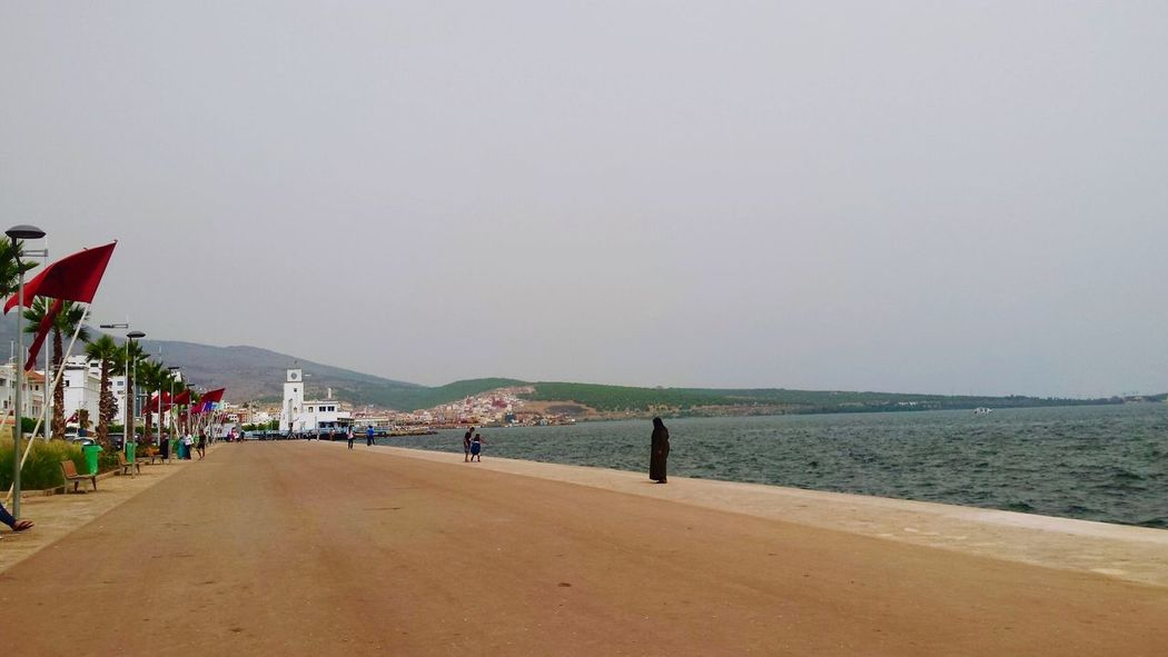 Sea Water Clear Sky Outdoors Day Women Morocco Flag Flags Holiday Nador Sunlight