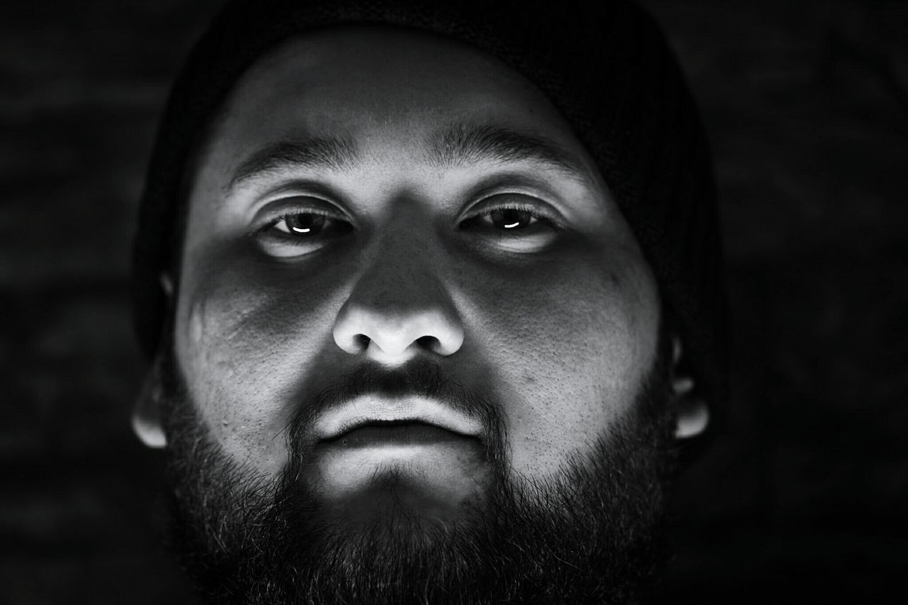 ~ 😑✴~ Looking At Camera Portrait Young Adult Human Face One Person Headshot Adult Close-up People Human Body Part Human Eye Adults Only Black & White Canonphotography Light And Shadow Monochrome Getting Inspired Friends Beard Eyes Are Soul Reflection Eyes Face Reflection Single Light Source Details