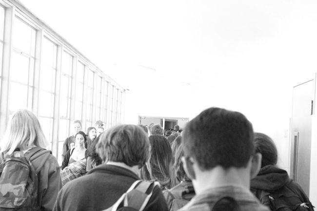 School Hallways Back Of Heads Students High School Faces Hallways Heads