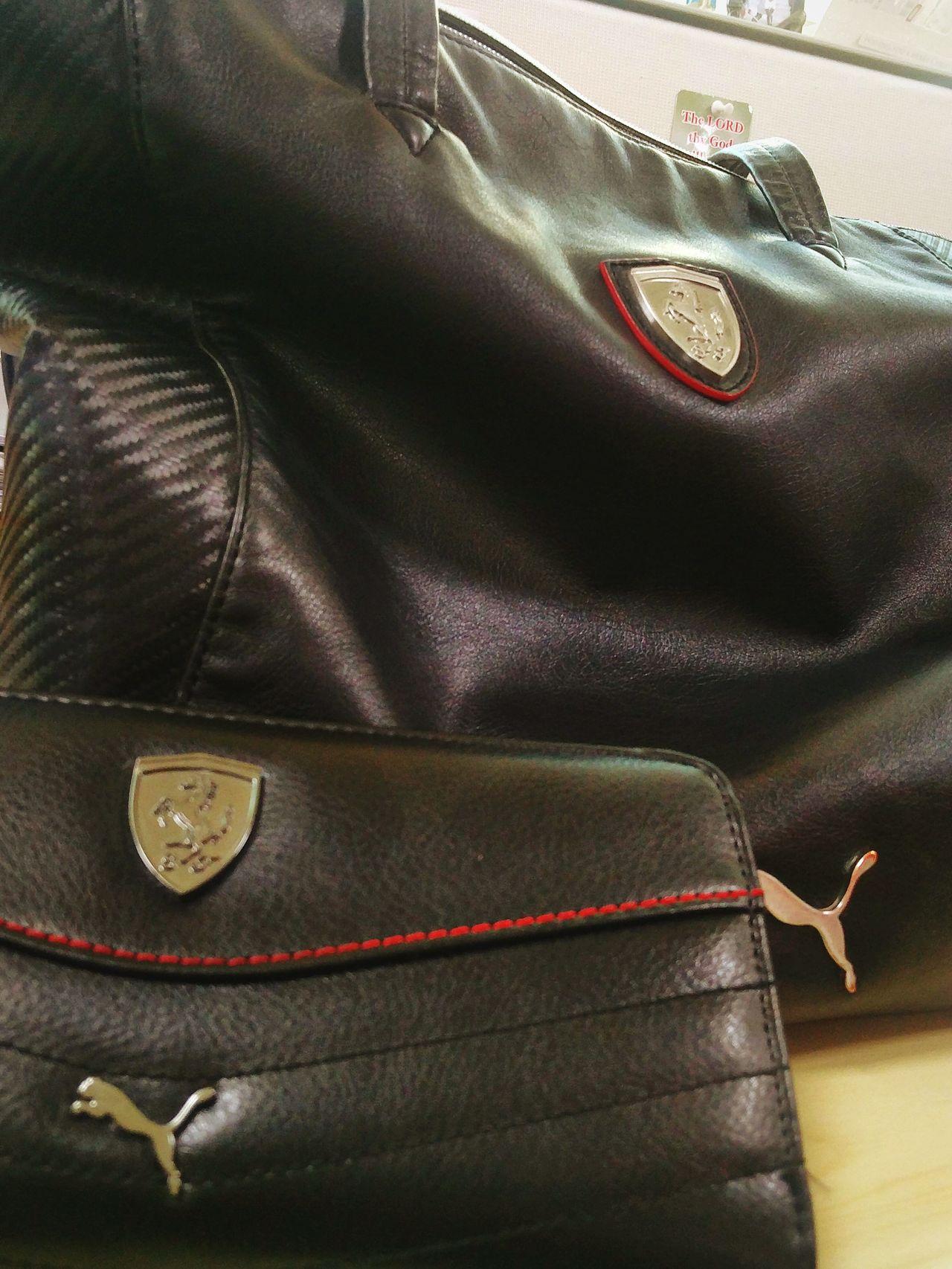 Leather Clothing Full Frame Industry Indoors  Close-up Bag Puma Ferrari