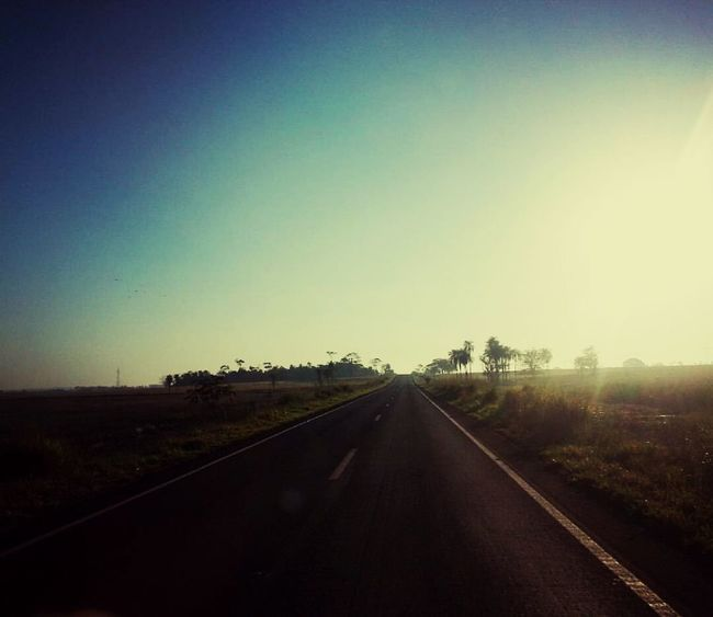 Clear Sky Ontheroad Outdoors Country Road The Way Forward Road No People Brazil