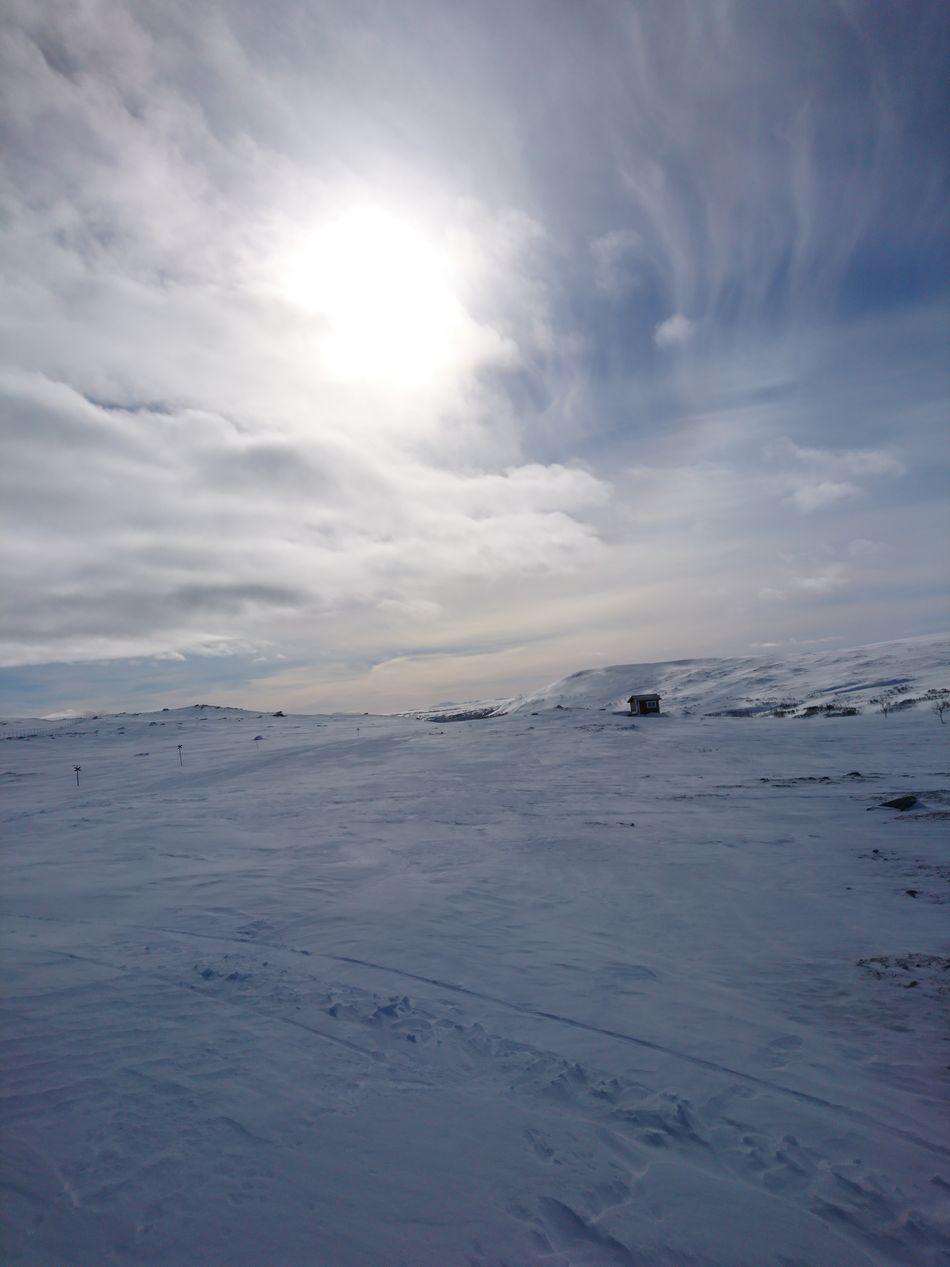 Winter Cold Temperature Frozen Landscape Dramatic Sky Cloud - Sky Beauty In Nature