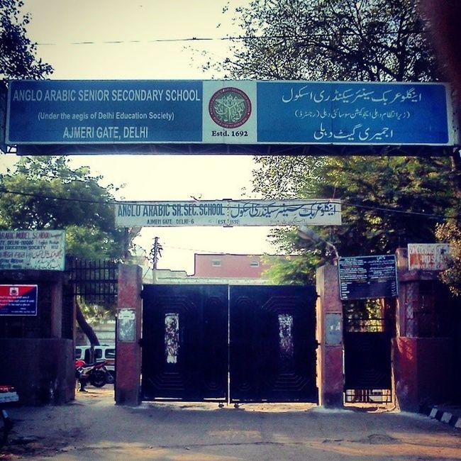 Delhi's Oldest Running Institution Anglo Arabic School: A Three Century Old Academic . Estd1692 Olddelhi AjmeriGate ProtectedMonument DelhiHeritage6