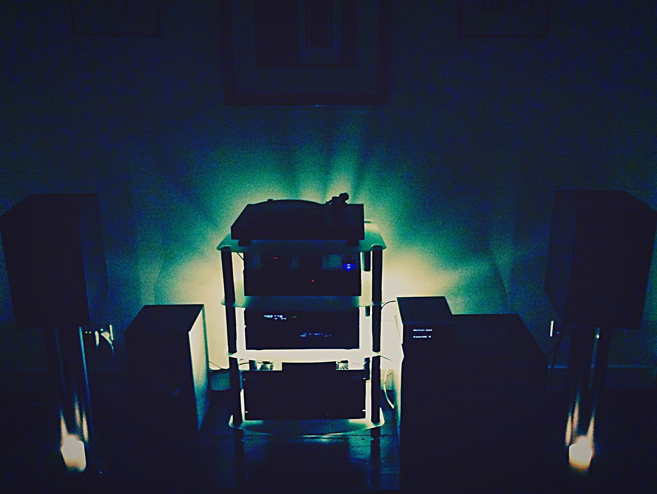 Just set up my hifi in my new house. HiFiPhotographia Audiophile Backlight Photography Fun Soundtrack Of Our Lives Audio Equipment Audio Nut Stereo Denon Sumo Acousticenergy Jamo Miller&kriesel First Eyeem Photo