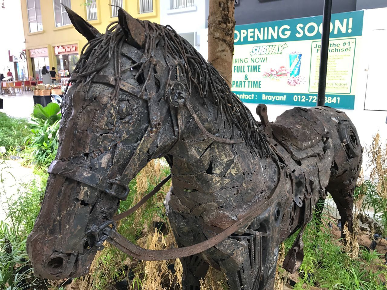 Close-up Text No People Communication Outdoors Day Building Exterior Architecture Animal Themes Horse Horse made of scraps Scraps Scrapsculpture Scraps Turn To Money Art ArtWork